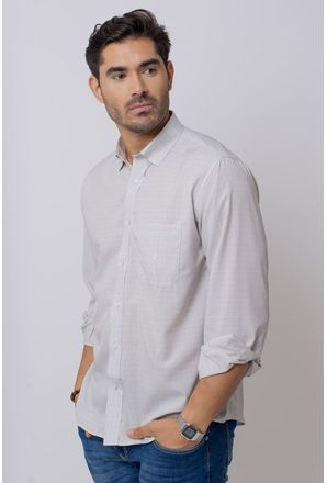 Camisa-Casual-Masculina-Tradicional-Microfibra-Cinza-08029-01
