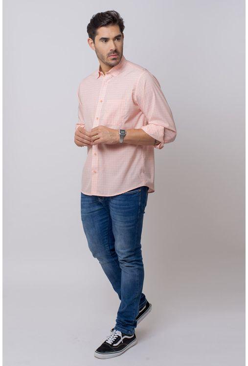 Camisa-Casual-Masculina-Tradicional-Microfibra-Salmao-08029-02