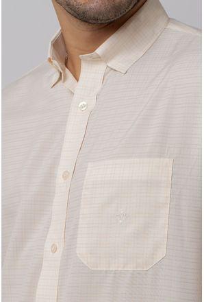 Camisa-Casual-Masculina-Tradicional-Microfibra-Creme-08029-01