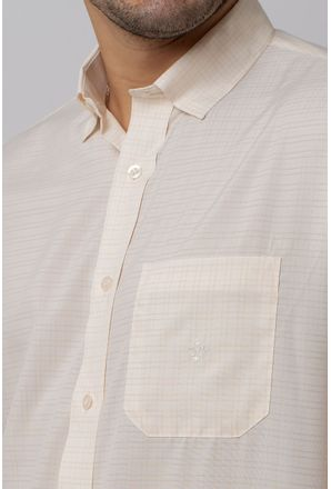 Camisa-Casual-Masculina-Tradicional-Microfibra-Creme-08029-03