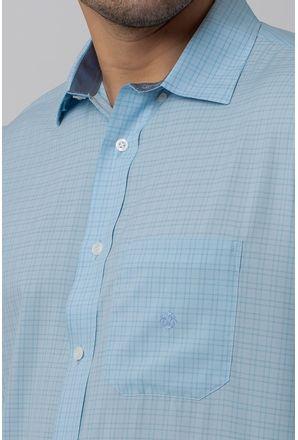 Camisa-Casual-Masculina-Tradicional-Microfibra-Azul-Claro-08029-02