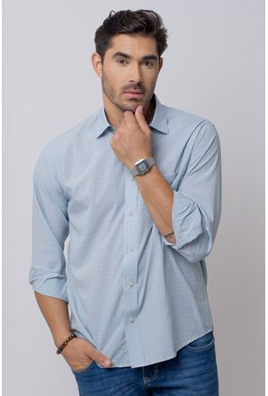 Camisa-Casual-Masculina-Tradicional-Microfibra-Branco-08029-01