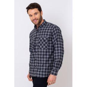 Camisa-Casual-Masculina-Tradicional-Flanela-Preto-08380-01