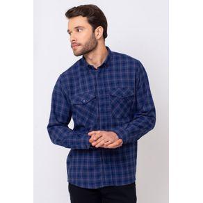 Camisa-Casual-Masculina-Tradicional-Flanela-Azul-08380-01