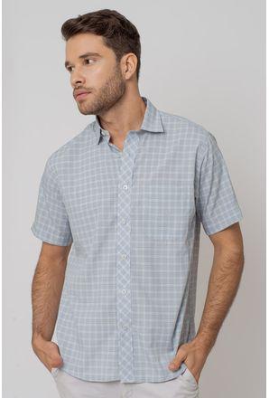 Camisa-Casual-Masculina-Tradicional-Microfibra-Cinza-08028-03