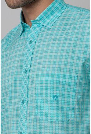 Camisa-Casual-Masculina-Tradicional-Microfibra-Verde-Claro-08028-02