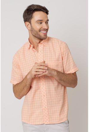 Camisa-Casual-Masculina-Tradicional-Microfibra-Salmao-08028-01
