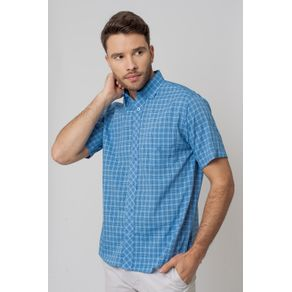 Camisa-Casual-Masculina-Tradicional-Microfibra-Azul-08028-01