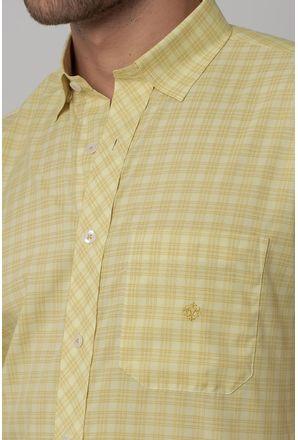 Camisa-Casual-Masculina-Tradicional-Microfibra-Creme-08028-01