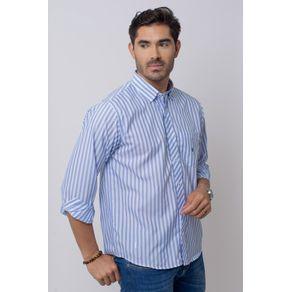 Camisa-Casual-Masculina-Tradicional-Microfibra-Azul-08022-01