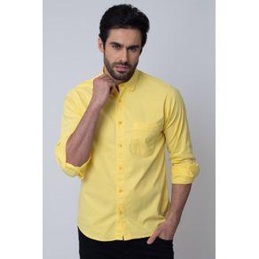 Camisa-Casual-Masculina-Tradicional-Tencel-Amarelo-08352-01