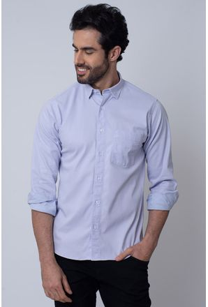 Camisa-Casual-Masculina-Tradicional-Tencel-Lilas-08352-01