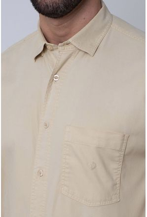 Camisa-Casual-Masculina-Tradicional-Tencel-Bege-08352-01