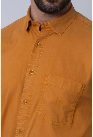 Camisa-Casual-Masculina-Tradicional-Tencel-Mostarda-08352-01