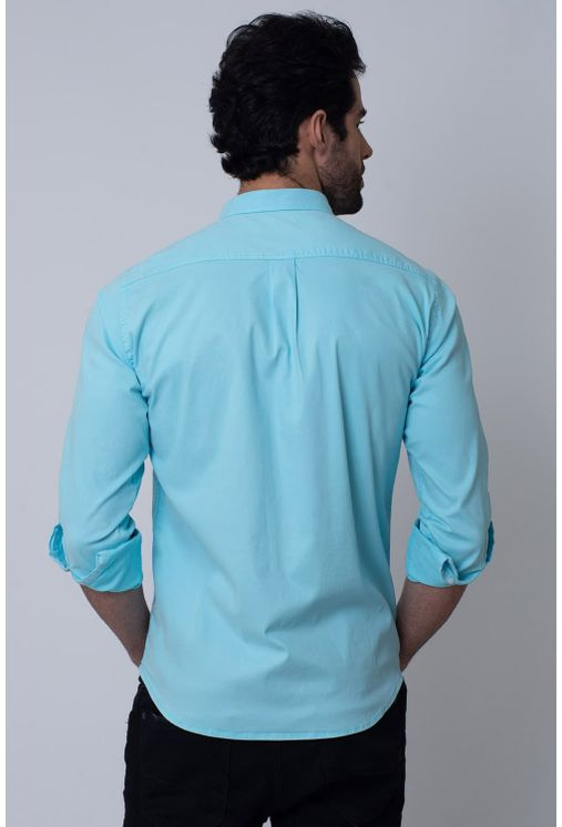 Camisa-Casual-Masculina-Tradicional-Tencel-Azul-Claro-08352-01