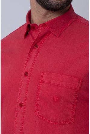 Camisa-Casual-Masculina-Tradicional-Tencel-Vermelho-08352-01