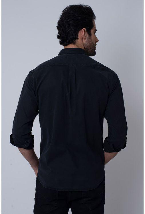 Camisa-Casual-Masculina-Tradicional-Tencel-Preto-08352-02