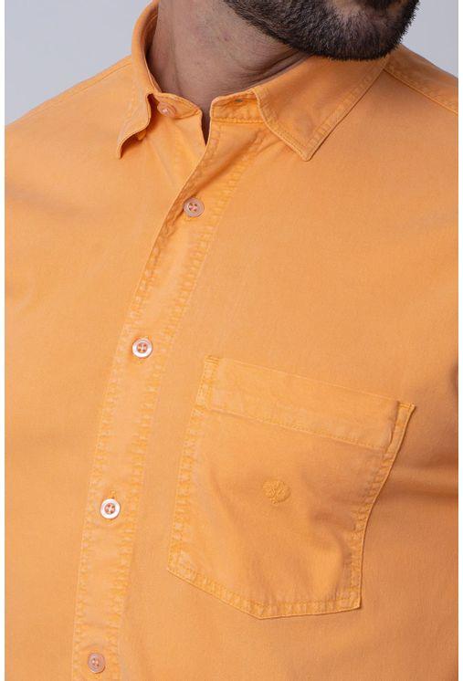 Camisa-Casual-Masculina-Tradicional-Tencel-Laranja-08352-01