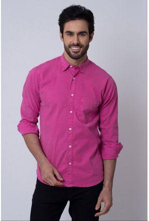Camisa-Casual-Masculina-Tradicional-Tencel-Rosa-08352-05