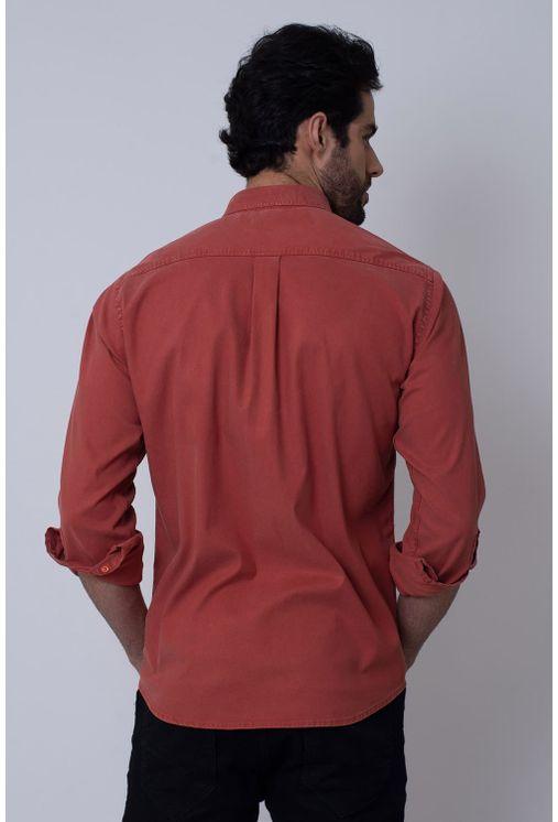 Camisa-Casual-Masculina-Tradicional-Tencel-Bordo-08352-01