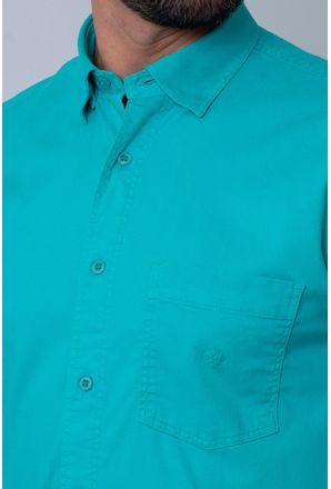 Camisa-Casual-Masculina-Tradicional-Tencel-Verde-Claro-08352-02