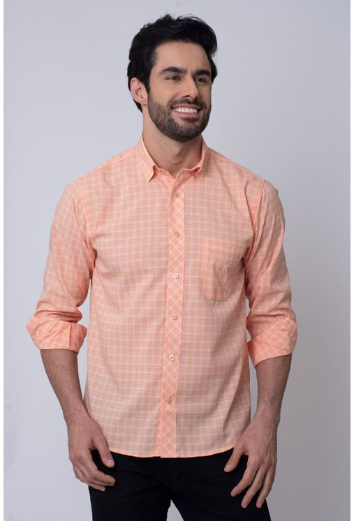 Camisa-Casual-Masculina-Tradicional-Microfibra-Salmao-08026-01