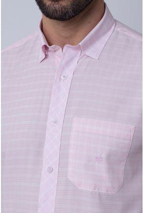 Camisa-Casual-Masculina-Tradicional-Microfibra-Rosa-08026-01
