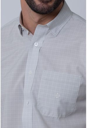 Camisa-Casual-Masculina-Tradicional-Microfibra-Cinza-08031-01