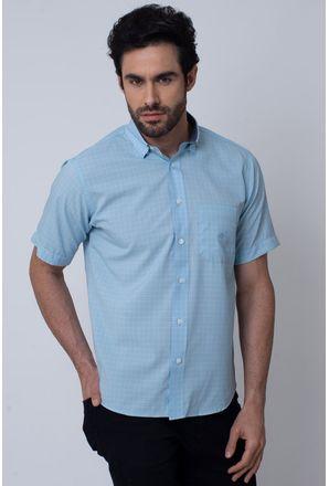 Camisa-Casual-Masculina-Tradicional-Microfibra-Azul-Claro-08031-01