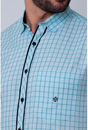 Camisa-Casual-Masculina-Tradicional-Microfibra-Azul-Claro-08034-02