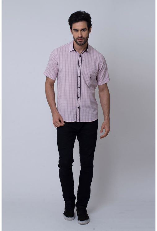 Camisa-Casual-Masculina-Tradicional-Microfibra-Rosa-08034-01