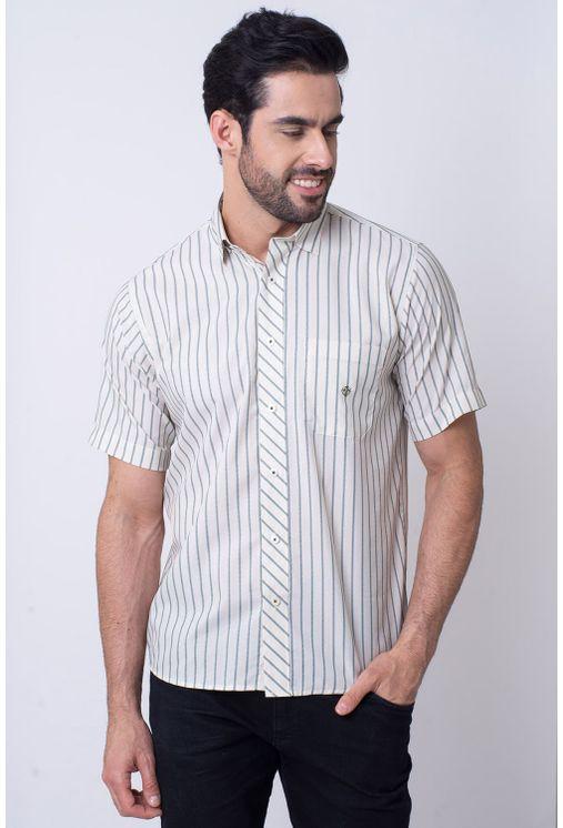 Camisa-Casual-Masculina-Tradicional-Microfibra-Verde-08023-01