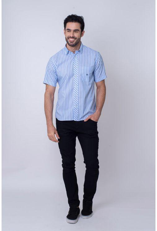 Camisa-Casual-Masculina-Tradicional-Microfibra-Azul-08024-01