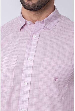 Camisa-Casual-Masculina-Tradicional-Microfibra-Rosa-08030-01