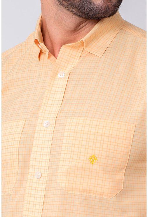 Camisa-Casual-Masculina-Tradicional-Microfibra-Laranja-08030-01