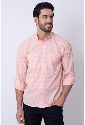 Camisa-Casual-Masculina-Tradicional-Microfibra-Salmao-08030-01