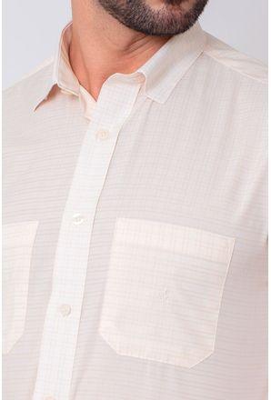 Camisa-Casual-Masculina-Tradicional-Microfibra-Creme-08030-01