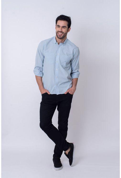 Camisa-Casual-Masculina-Tradicional-Microfibra-Branco-08030-01