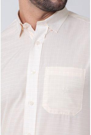 Camisa-Casual-Masculina-Tradicional-Microfibra-Creme-08031-01