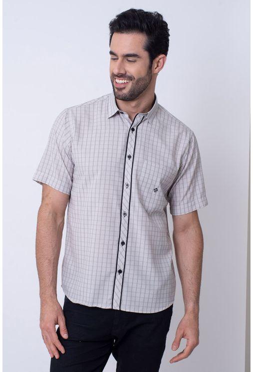 Camisa-Casual-Masculina-Tradicional-Microfibra-Bege-08034-01