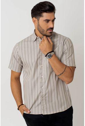 Camisa-Casual-Masculina-Tradicional-Algodao-Fio-50-Bege-05255-02