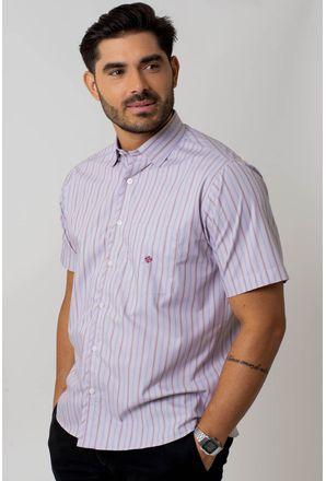 Camisa-Casual-Masculina-Tradicional-Algodao-Fio-50-Bege-05256-01