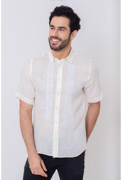 Camisa-Casual-Masculina-Slim-Puro-Linho-Creme-03200-02
