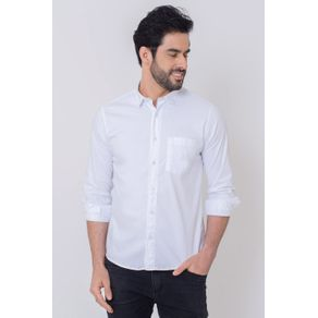 Camisa-Casual-Masculina-Tradicional-Tencel-Branco-08352-01