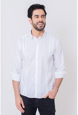 Camisa-Casual-Masculina-Tradicional-Algodao-Fio-50-Branco-08603-01